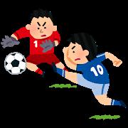 """alt=""""ルールを守ってサッカーをする男"""""""